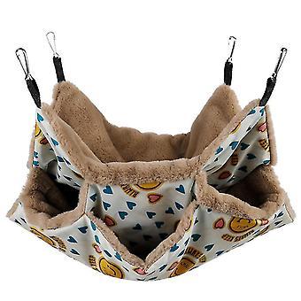 Squirrel hamster hammock, hanging pet sleeping bag(34*34cm)