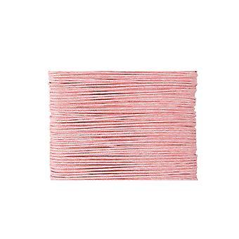 20m lys rosa vokset bomull 1mm streng for threading håndverk   Ledning og elastisk