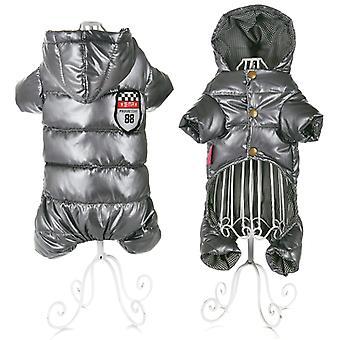 Vêtements pour petits chiens Hiver Chaud Chiot Pet Manteaux de chien Couleur imperméable à l'eau taille grise 8