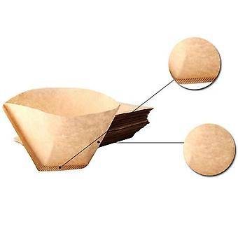 100Pcs Cones Unbleached Brown Coffee Filters Replacement Kitchen Tools