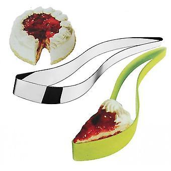 2 Packs Stainless Steel Cake Slicer And Premium Abs Green Cake Slicer