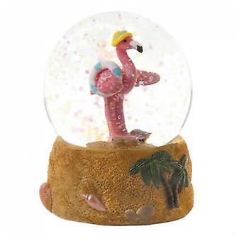 Accent Plus Mini Snow Globe - Flamingo with Sun Hat, Pack of 1