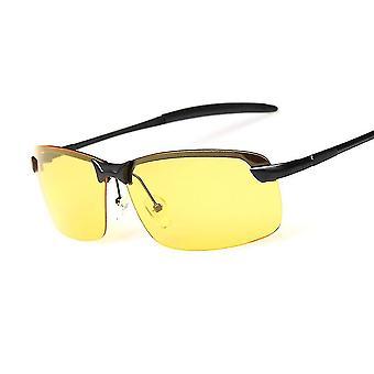 Gafas de sol polarizadas antideslumbrantes gafas de visión nocturna gafas cuadradas de metal regalo hombre#249