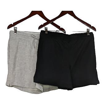 Danskin Women's Shorts Ladies' Soft Active Short 2-pack Gray