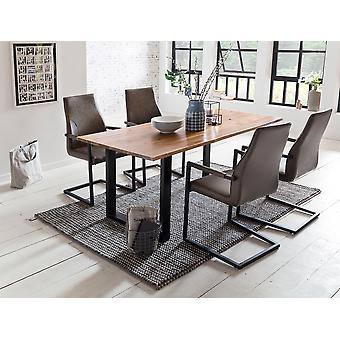 Tomasso's Lecce Dining Table - Modern - Natural - Acacia - 0 cm x 0 cm x 0 cm