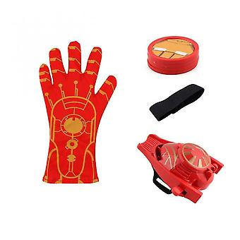 1pcs New Anime Figure Pvc Super Heroes Cosplay Spider Gloves Laucher Wrist Launchers Kids Toys For Children Boys Red