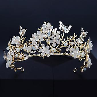 Bridal accessories hair accessories fairy beautiful butterfly floral crown