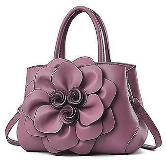 Käsilaukut naisten käsilaukku pu nahka suurikapasiteettinen olkalaukku muoti klassinen messenger laukku violetti