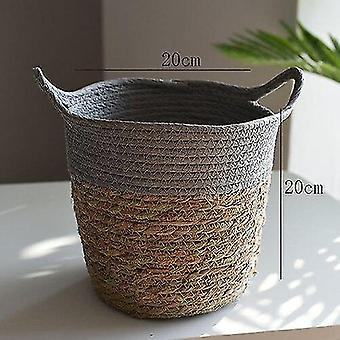 Handwoven rattan storage basket for household and decor(G)