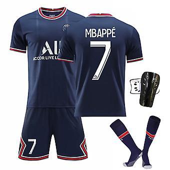 Mbappe Psg Jersey, Paris Team T-shirt-mbappe-7, Paris Team (tamanho adulto)