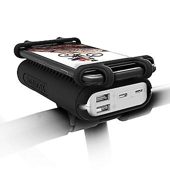 Portable External Battery Pack With Bike Phone Holder