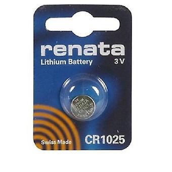 Renata Lithium Battery 3v - Pack of 10 (CR1025)