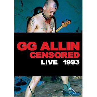 Allin Gg-Censored/Uncensore [DVD] USA import