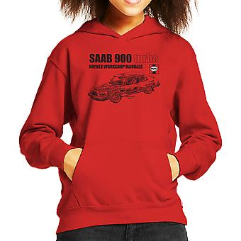 Haynes Workshop Manual 0765 Saab 900 Turbo Black Kid's Hooded Sweatshirt