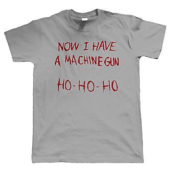 Jetzt habe ich eine Maschinenpistole Herren lustige T Shirt - Geburtstag FilmGeschenk für Papa
