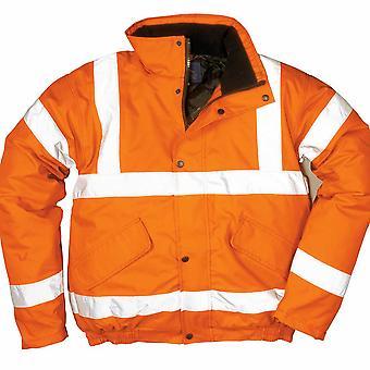 Portwest - Hi-Vis Safety Workwear Rail Track Side Bomber Jacket RIS