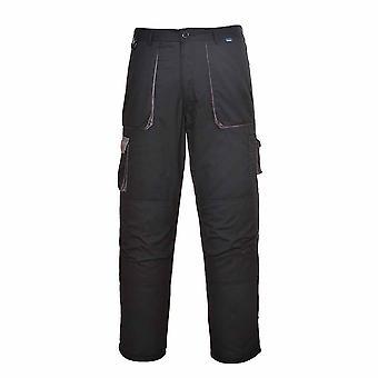 Portwest - Texo Workwear gleichmäßig Warm Cotton Rich Kontrast Hose - gefüttert