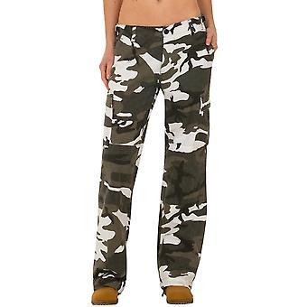 Wide Leg Camouflage Cargo Pants