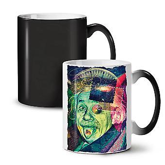 Einstein Philosophy NEW Black Colour Changing Tea Coffee Ceramic Mug 11 oz | Wellcoda