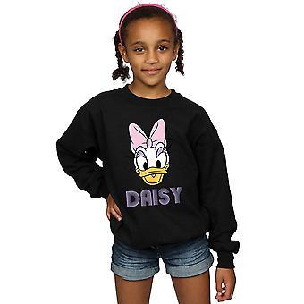 Disney Girls Daisy Duck Face Sweatshirt