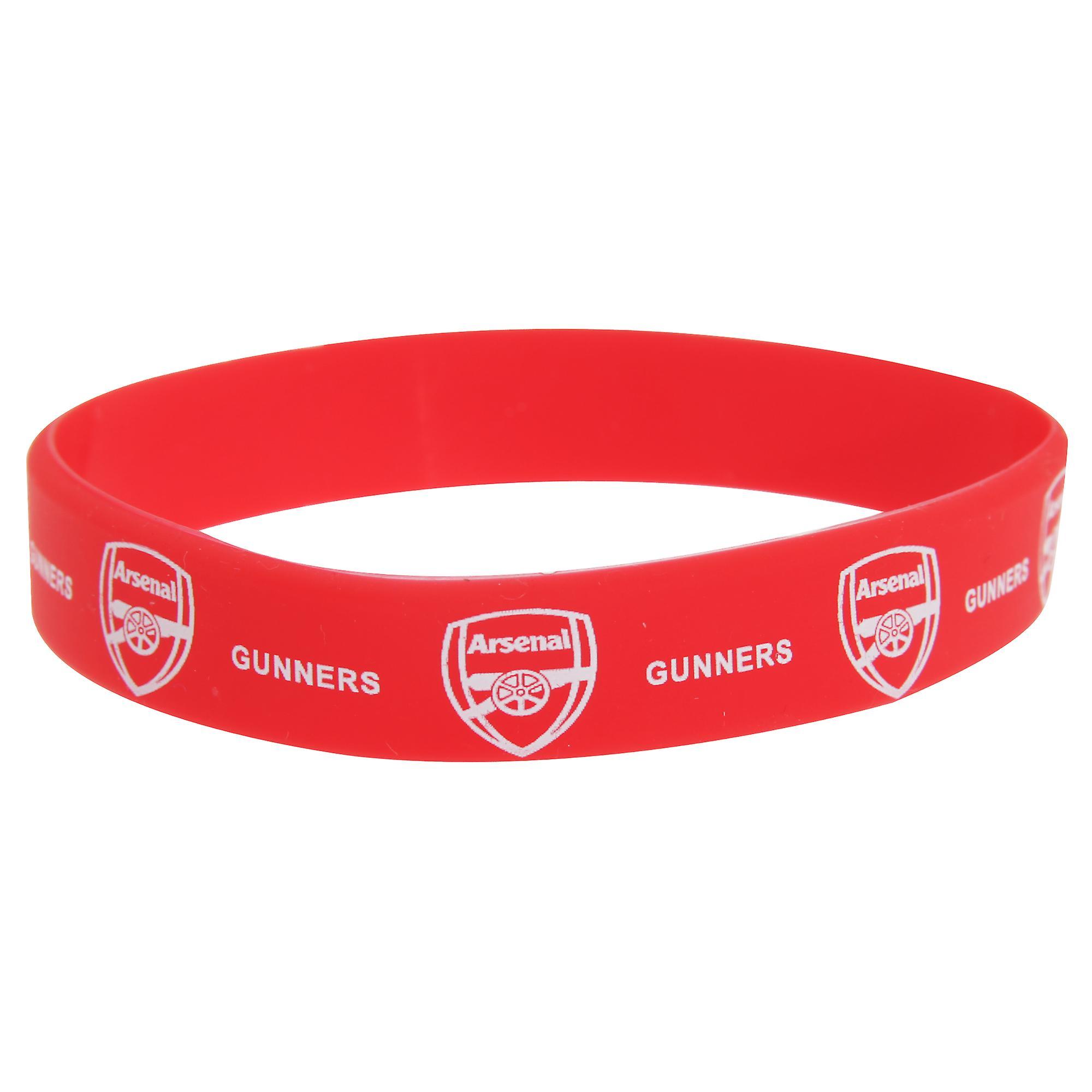 FC Arsenal offisielle enkelt gummi fotball Crest armbånd