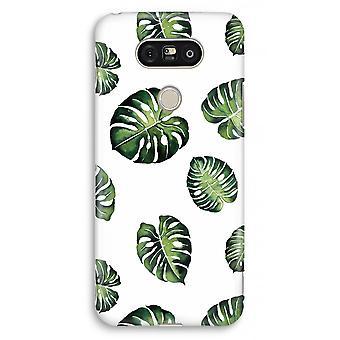 LG G5 volledige Case - tropische bladeren afdrukken