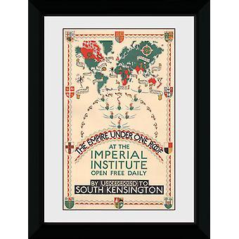 Transport For London Empire sous un même toit encadrée Collector Print