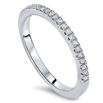 1 / 6ct Lab opprettet Diamond Wedding Ring 14K hvitt gull