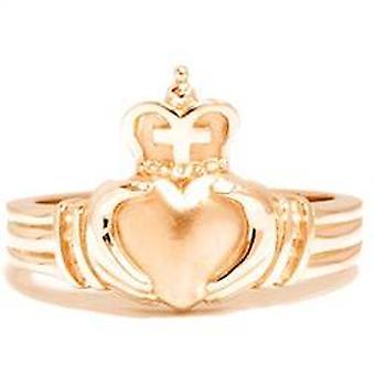 Claddagh رجالي الذهب الأصفر الزفاف خاتم الذكرى