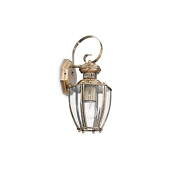 Ideal Lux Norma Bronze Wall Lantern With Clear Glass