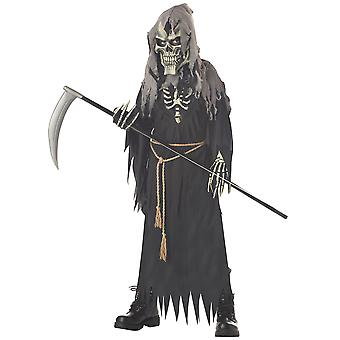 Dark Messenger Grim Reaper Skull Skeleton Horror Halloween Boys Costume