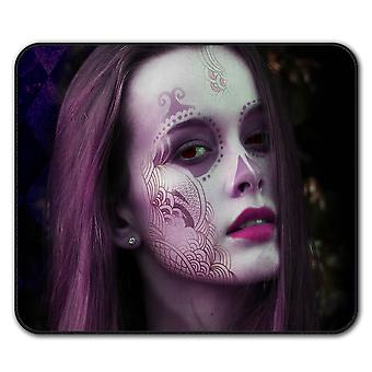 Mystic Girl Cool Anti-Rutsch-Mauspad Pad 24 x 20 cm | Wellcoda