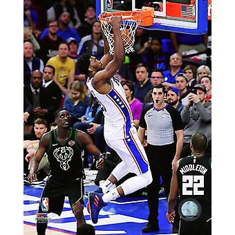 Joel Embiid 2017-18 Action Photo Print