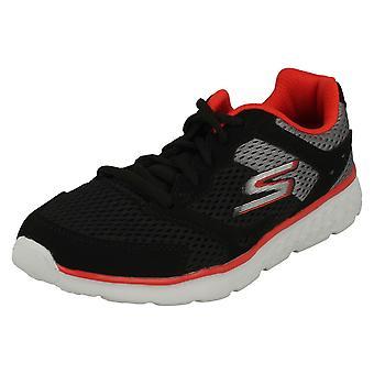 Jungen Skechers Casual Lace Up Trainer Zodox 97681 - schwarz/grau/rot Textil - UK Größe 11,5 - EU Größe 29 - US-Größe 12,5