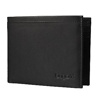 Bugatti Veloce mens plånbok plånbok kort hållare svart 3583