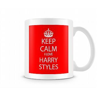 Houd kalm ik Love Harry Styles bedrukte mok
