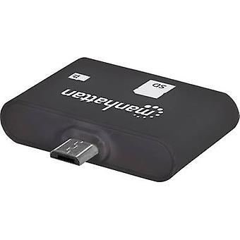 Manhattan USB 2.0 Adapter [1 x USB 2.0 aansluiting Micro B - 1 x SD-kaartsleuf] 406208 incl. OTG functie