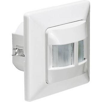 GEV 018419 Flush mount, Wall PIR motion detector 180 ° Relay White IP20