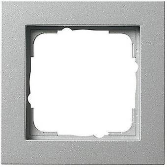 GIRA 1x Frame E2, Standard 55, System 55 Aluminium 0211 25