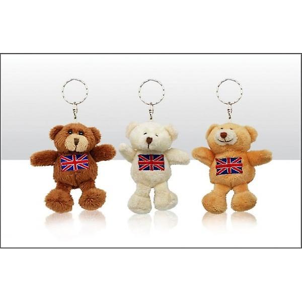 Union Jack Wear Union Jack Soft Teddy Bear Keyring