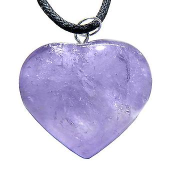 Braziliaanse kristal gezwollen hart Amethist edelsteen Lucky Charm hanger ketting