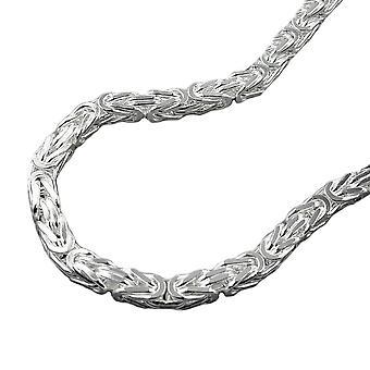 Bracelet ca. 3mm King chain square shiny 925 Silver 19 cm