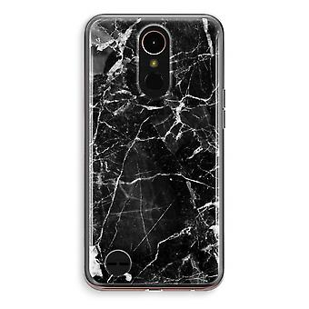 LG K10 (2018) Transparent fodral (Soft) - marmor svart 2