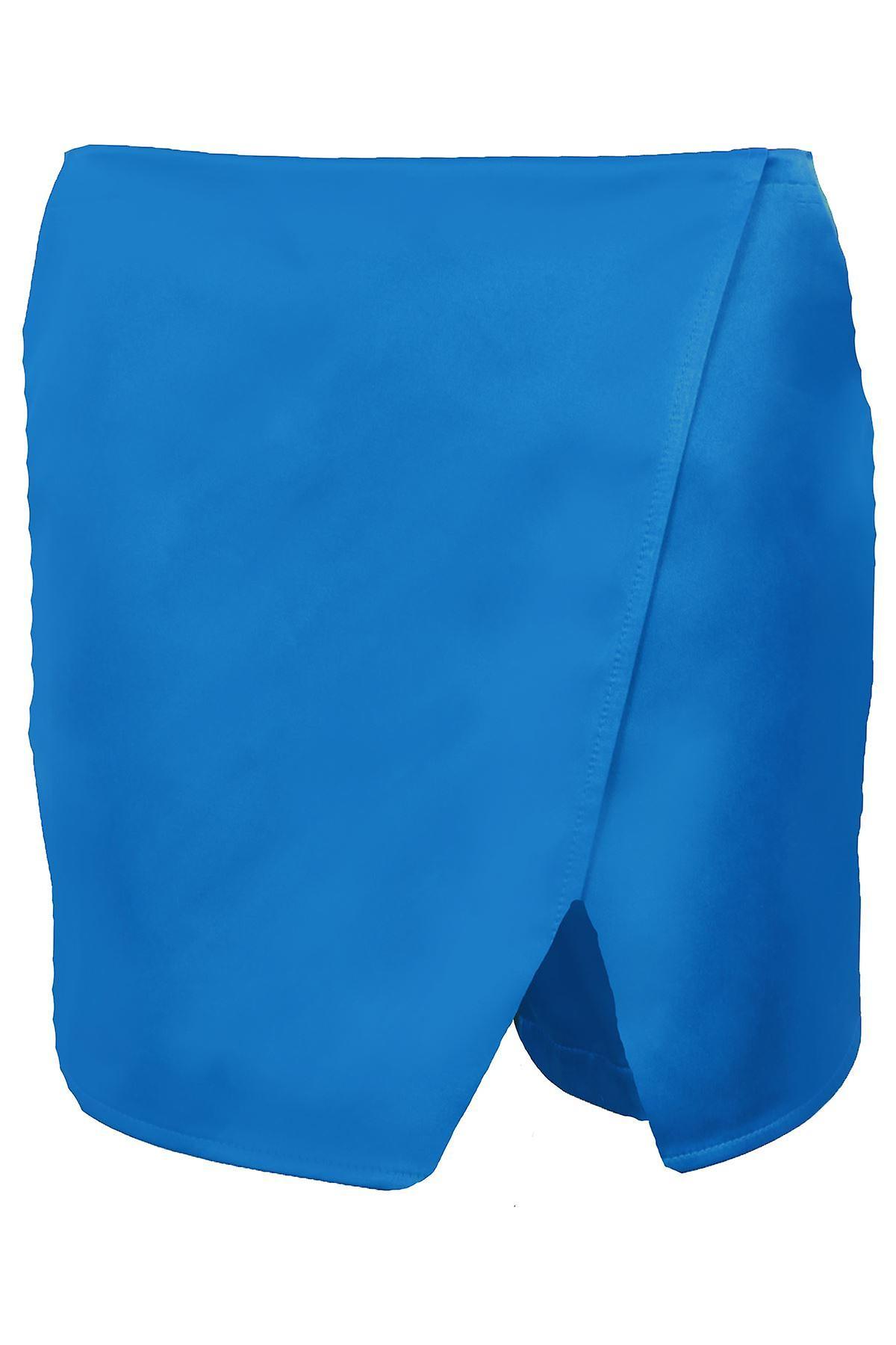 Hyvät Wrap märkä näyttää pelkkää naisten puolueen rento minihame shortsit housuhame Skort
