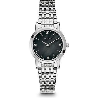 Bulova נשים שעונים קלאסי יהלום 96P148
