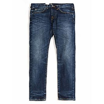 Edwin Jeans Ed-55 Slim Tapered Red Selvedge Denim - Contrast Clean Wash
