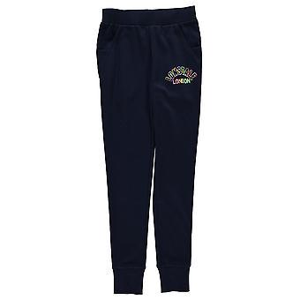Lonsdale Kids filles fermé ourlet Jogging bas maillot pantalons pantalons Drawstring