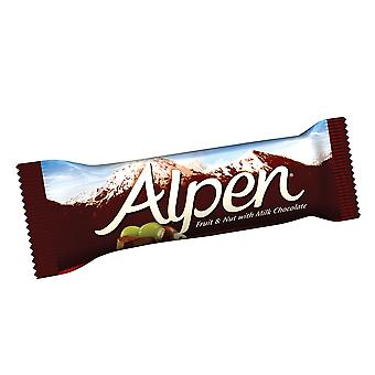 Alpen frutta & dado con barrette di cioccolato