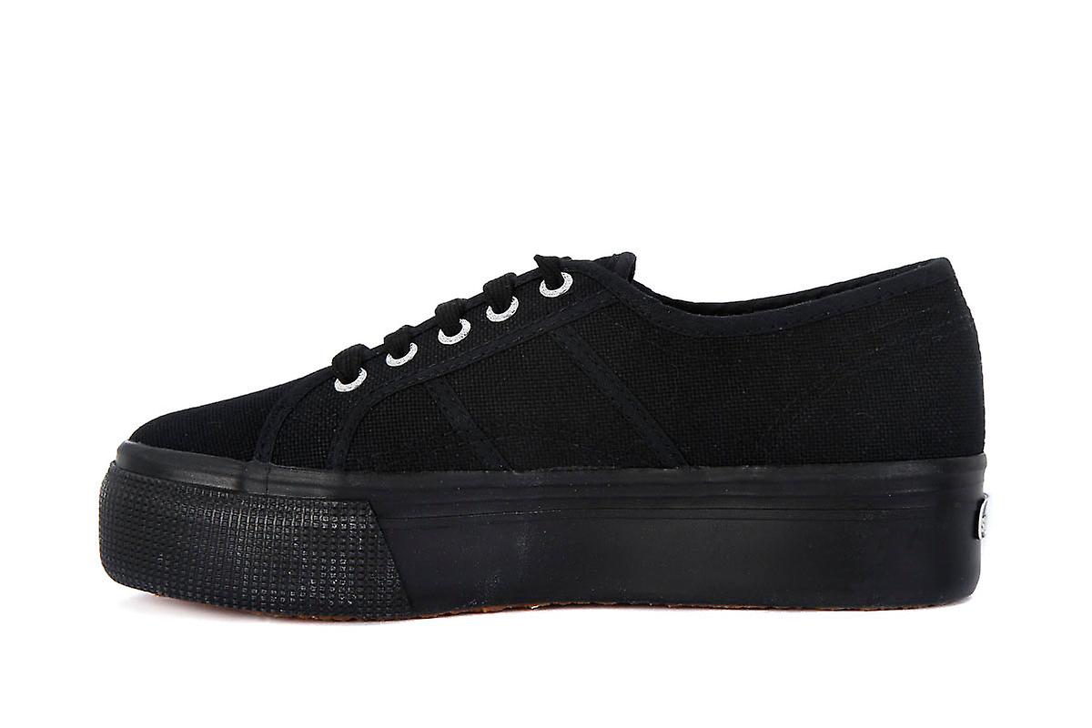 Superga cotu full black up and down fashion sneakers