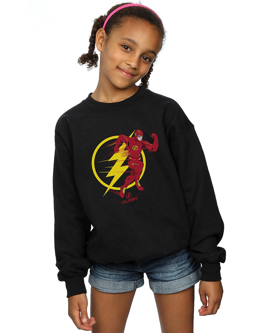 DC Comics Girls The Flash Running Emblem Sweatshirt